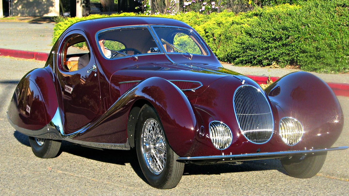 A similar car to the one that was stolen, this is a 1938 Talbot-Lago T150C SS Teardrop Coupe 1 Photographed at the 2012 Marin Sonoma Concours d' Elegance. (Jack Snell/Flickr)
