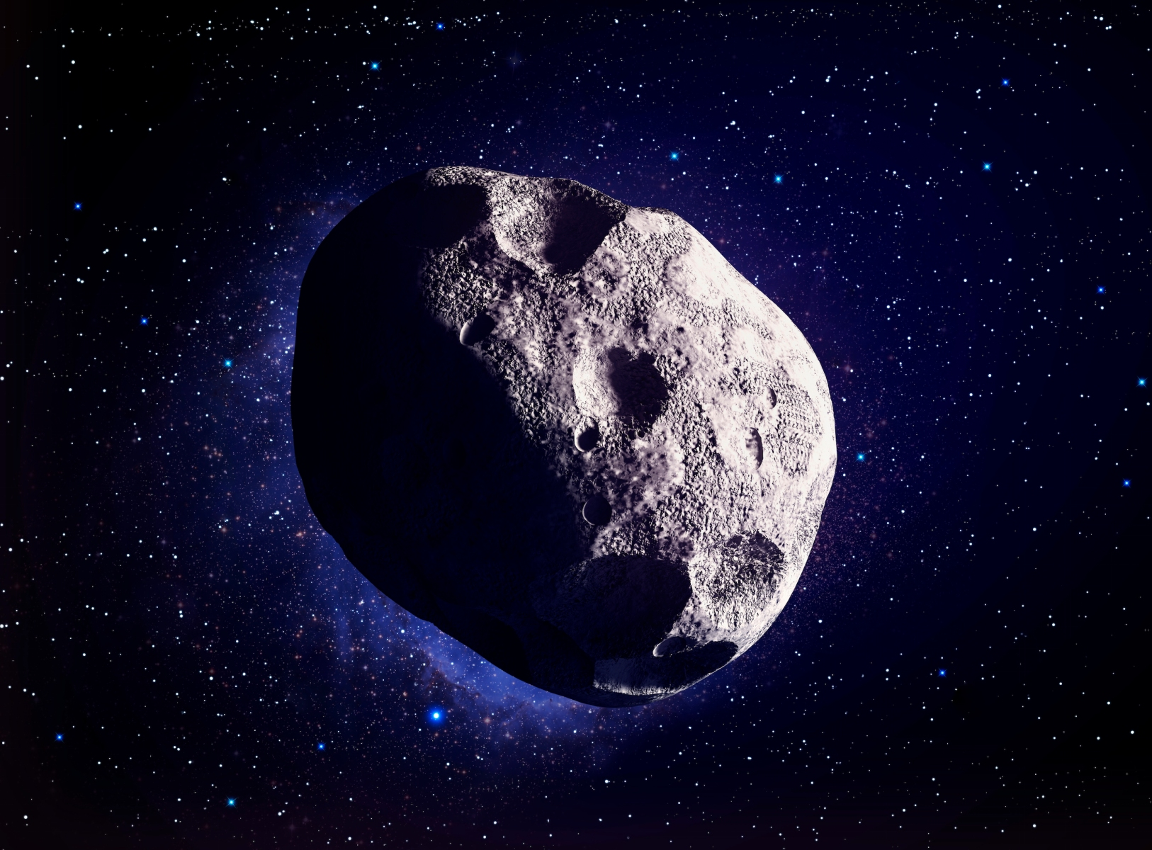 Asteroid, computer illustration.