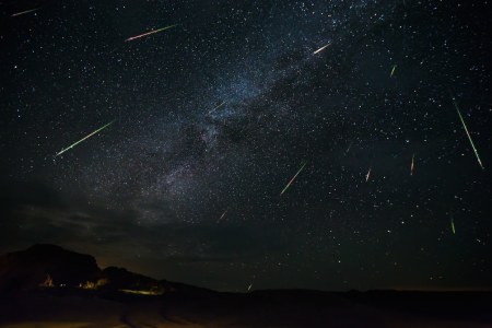 Perseid meteor shower over Big Bend National Park, Texas. (Photo credit: Jason Weingart / Barcroft Images / Barcroft Media via Getty Images)