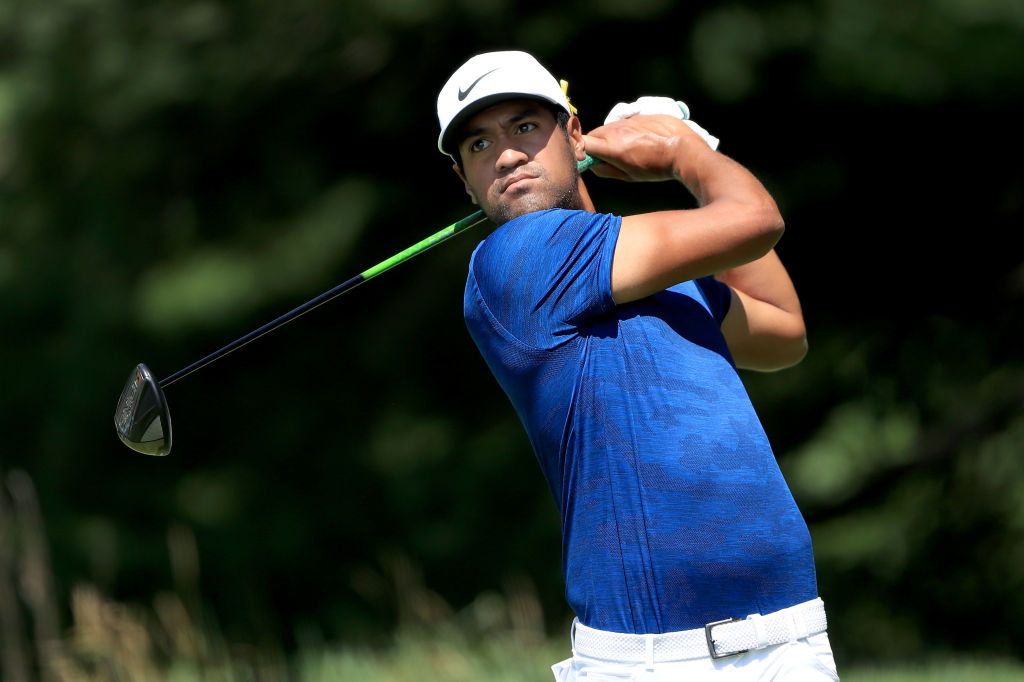 AKRON, OH - AUGUST 04:  Tony Finau plays his shot from the second tee during World Golf Championships-Bridgestone Invitational - Round Three at Firestone Country Club South Course on August 4, 2018 in Akron, Ohio.  (Photo by Sam Greenwood/Getty Images)