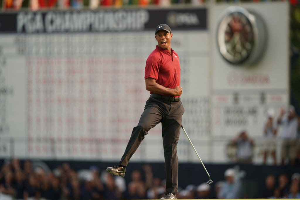 Tiger Woods in 2018. (Photo by Montana Pritchard/PGA of America via Getty Images)