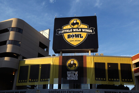 TEMPE, AZ - DECEMBER 29:  General outside of Sun Devil Stadium before the Buffalo Wild Wings Bowl between the TCU Horned Frogs and the Michigan State Spartans on December 29, 2012 in Tempe, Arizona.  (Photo by Christian Petersen/Getty Images)