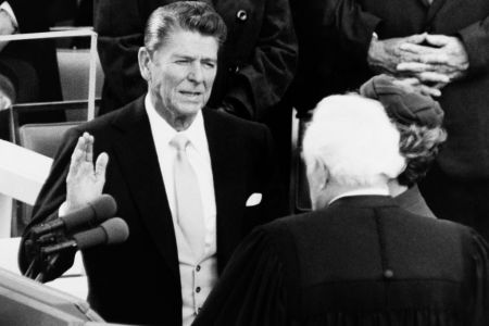 Ronald Reagan's inauguration in 1981. (CQ Roll Call via Getty Images)