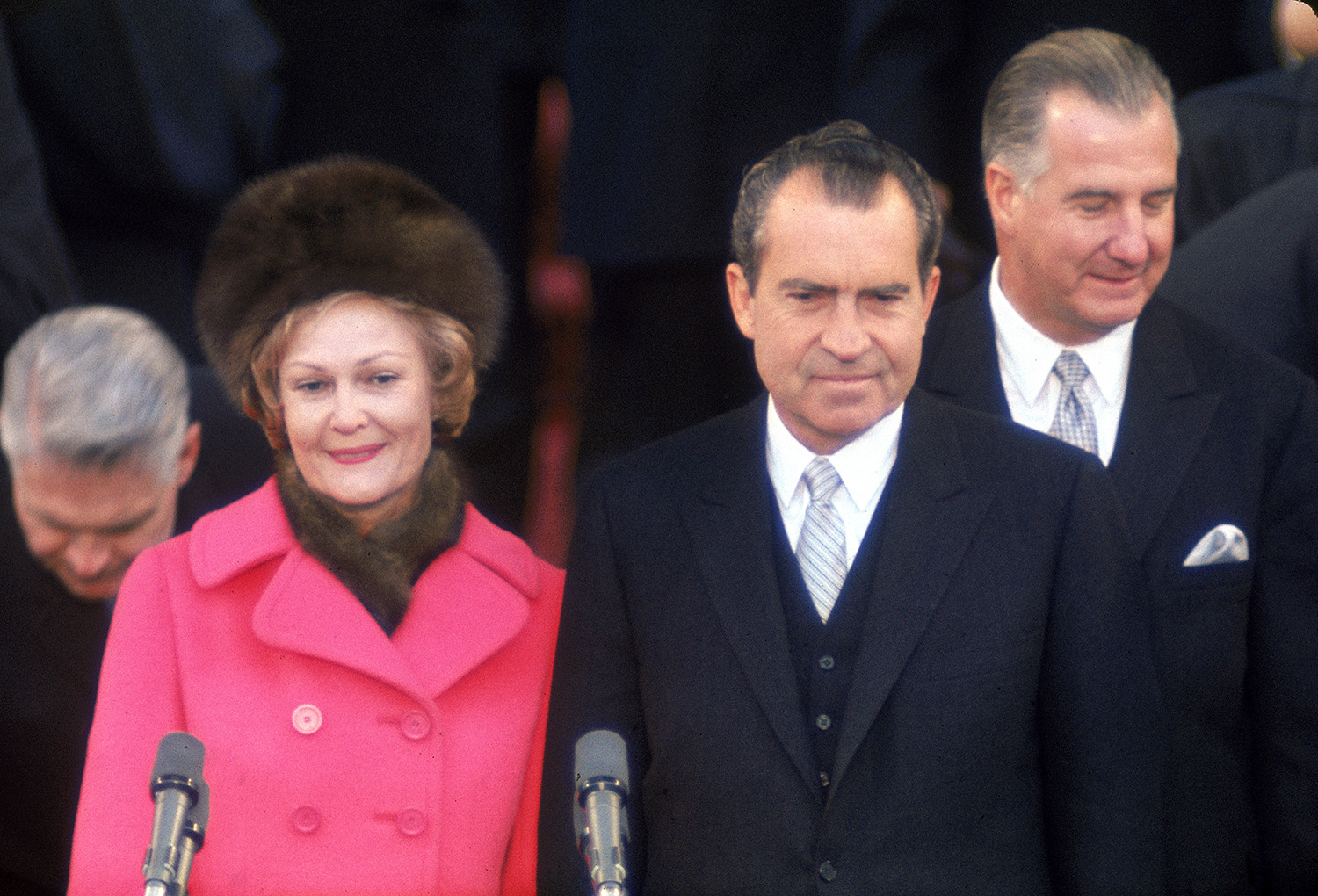 New First Lady Patricia Nixon with her husband, President Richard M. Nixon at his Inauguration. (Henry Groskinsky/The LIFE Picture Collection/Getty Images)