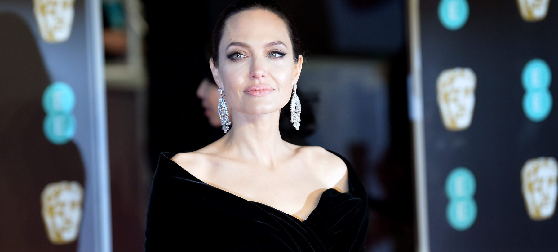 Angelina Jolie attends the EE British Academy Film Awards (BAFTA) held at Royal Albert Hall on February 18, 2018 in London, England.  (Photo by Jeff Spicer/Jeff Spicer/Getty Images)