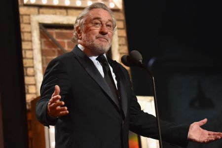 Robert De Niro speaks onstage during the 72nd Annual Tony Awards at Radio City Music Hall on June 10, 2018 in New York City. (Photo by Kevin Mazur/Getty Images for Tony Awards Productions)