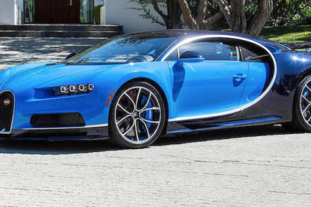 The 2018 Bugatti Chiron that Bonhams is selling at the Quail Lodge Auction starting August 24. (Bonhams)