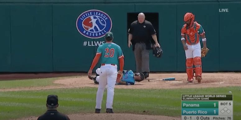 A screenshot from the Little League World Series. (ESPN)
