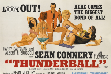 "The British ""Thunderball"" poster from 1965 by Robert E. McGinnis (Sotheby's)"