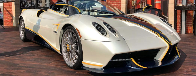 """The Huayra Roadster Gyrfalcon that Pagani Automobili introduced at """"The Quail - A Motorsport Gathering."""""""