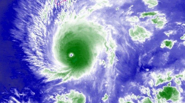 Satellite of Hurricane Lane (NOAA)