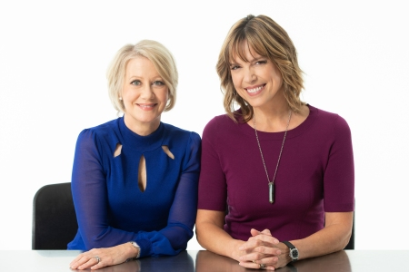 Andrea Kremer and Hannah Storm pose for a portrait at Pier 59 studios on September 21, 2018, in New York City. (Courtesy of Amazon, photo: Business Wire)