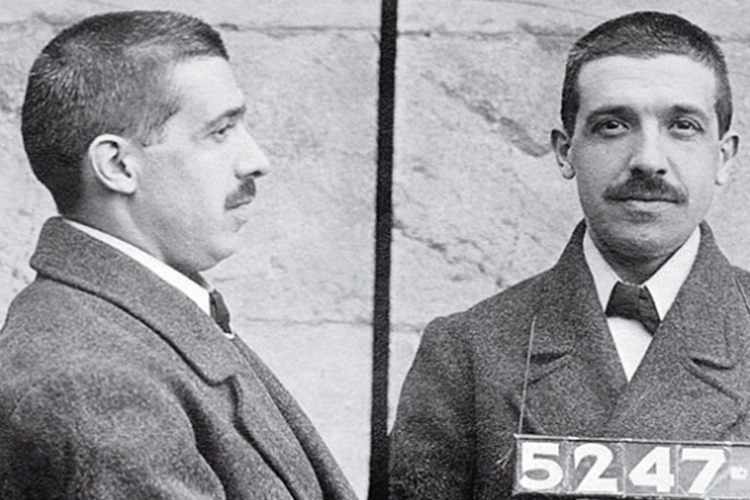 Charles Ponzi's mugshot (Archives)