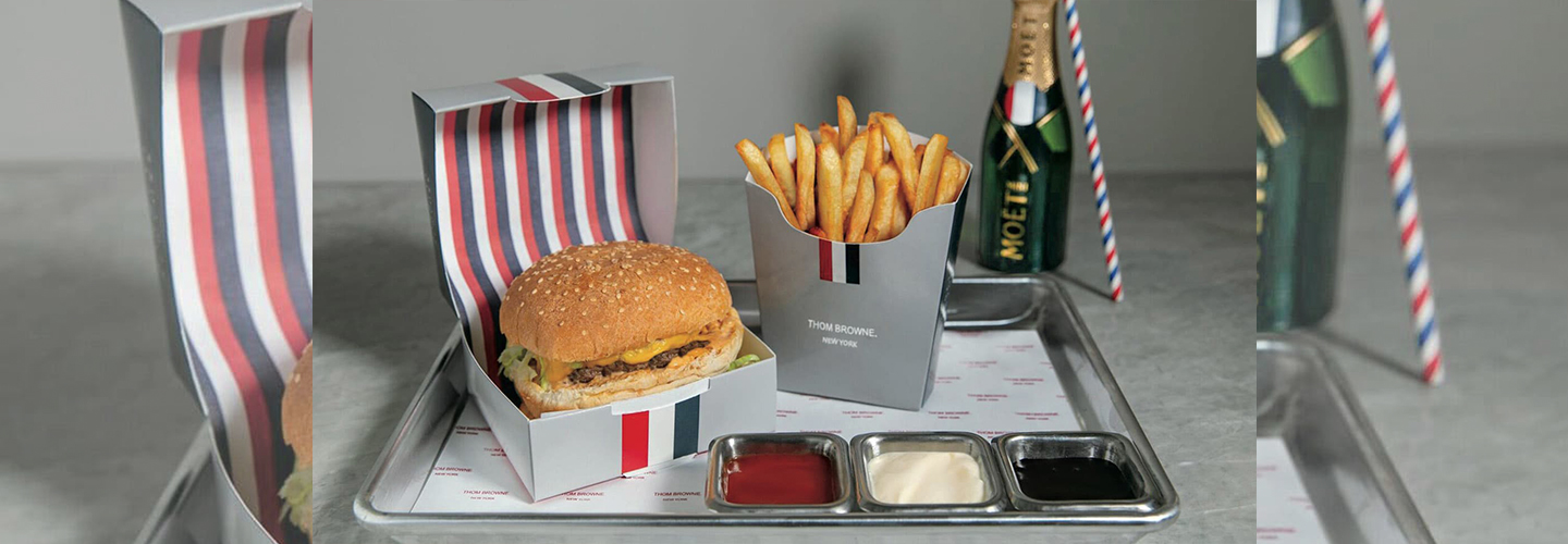 Burger via Thom Browne/Barney's New York