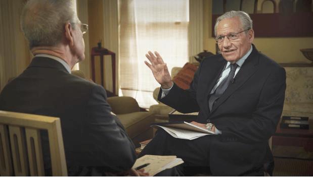 Bob Woodward talking with David Martin on CBS News' 'Sunday Morning,' (CBS News)