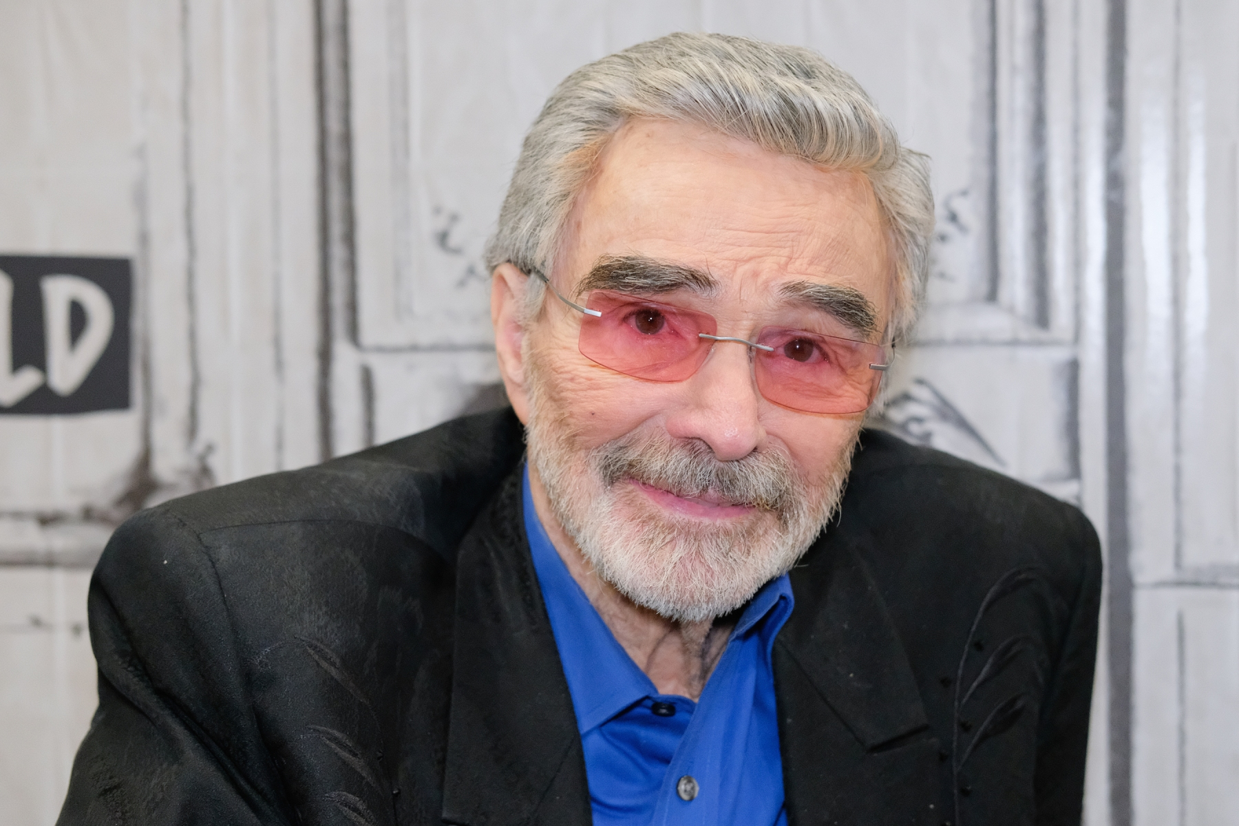 "Actor Burt Reynolds discusses the film ""The Last Movie Star"" at Build Studio on March 15, 2018 in New York City.  (Photo by Matthew Eisman/Getty Images)"