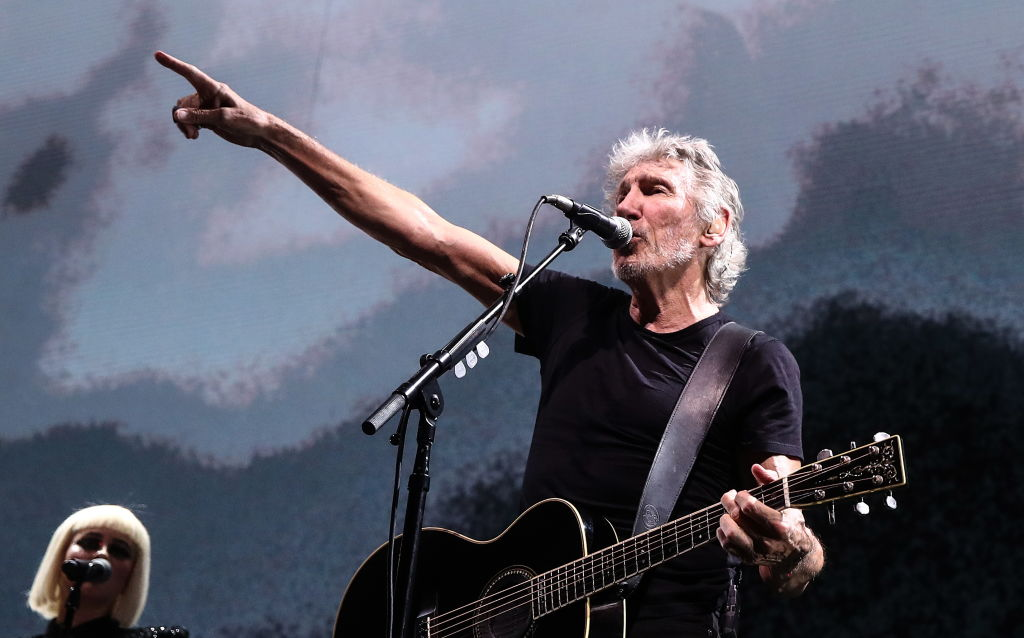 MOSCOW, RUSSIA  AUGUST 31, 2018: Pink Floyd co-founder Roger Waters gives a concert at Moscow's Olimpiysky Arena as part of his Us + Them Tour. Valery Sharifulin/TASS (Photo by Valery SharifulinTASS via Getty Images)