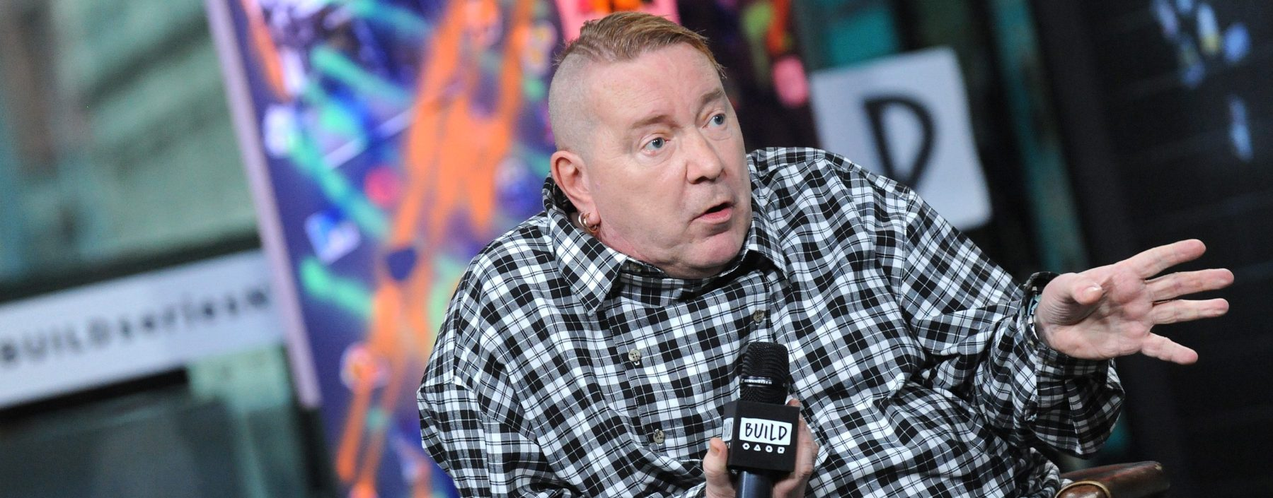 Singer-songwriter John Lydon visits Build Series to discuss the documetary 'The Public Image Is Rotten' at Build Studio on September 13, 2018 in New York City.  (Photo by Desiree Navarro/Getty Images)