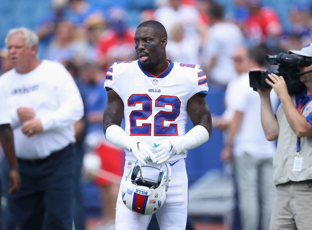 BUFFALO, NY - SEPTEMBER 16: Vontae Davis #22 of the Buffalo Bills during pre-game warmups prior to the start of NFL game action against the Los Angeles Chargers at New Era Field on September 16, 2018 in Buffalo, New York. (Photo by Tom Szczerbowski/Getty Images)
