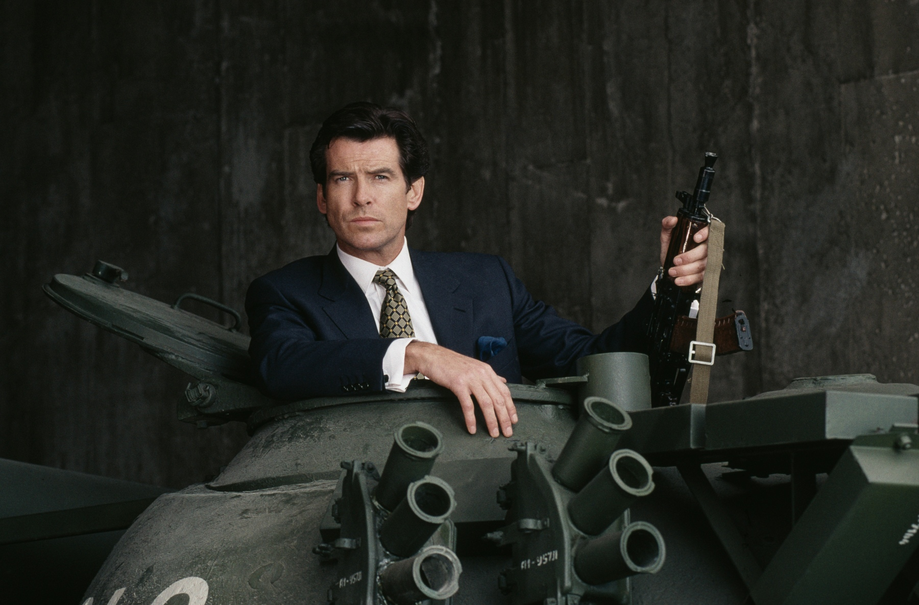 Pierce Brosnan poses in a publicity still for the James Bond film 'GoldenEye', 1995. (Photo by Keith Hamshere/Getty Images)