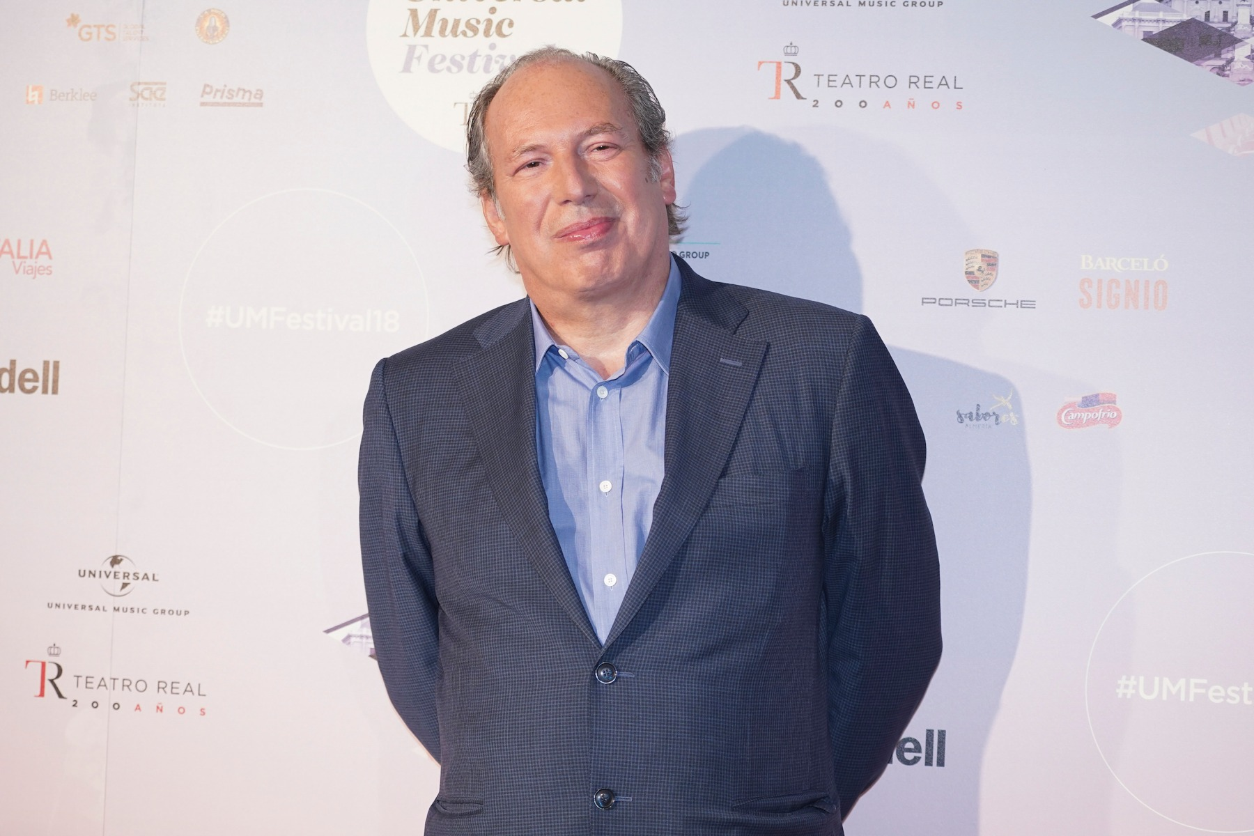 Composer Hans Zimmer attends a press conference at Royal Theatre on July 3, 2018 in Madrid, Spain. (Photo by Oscar Gonzalez/NurPhoto via Getty Images)