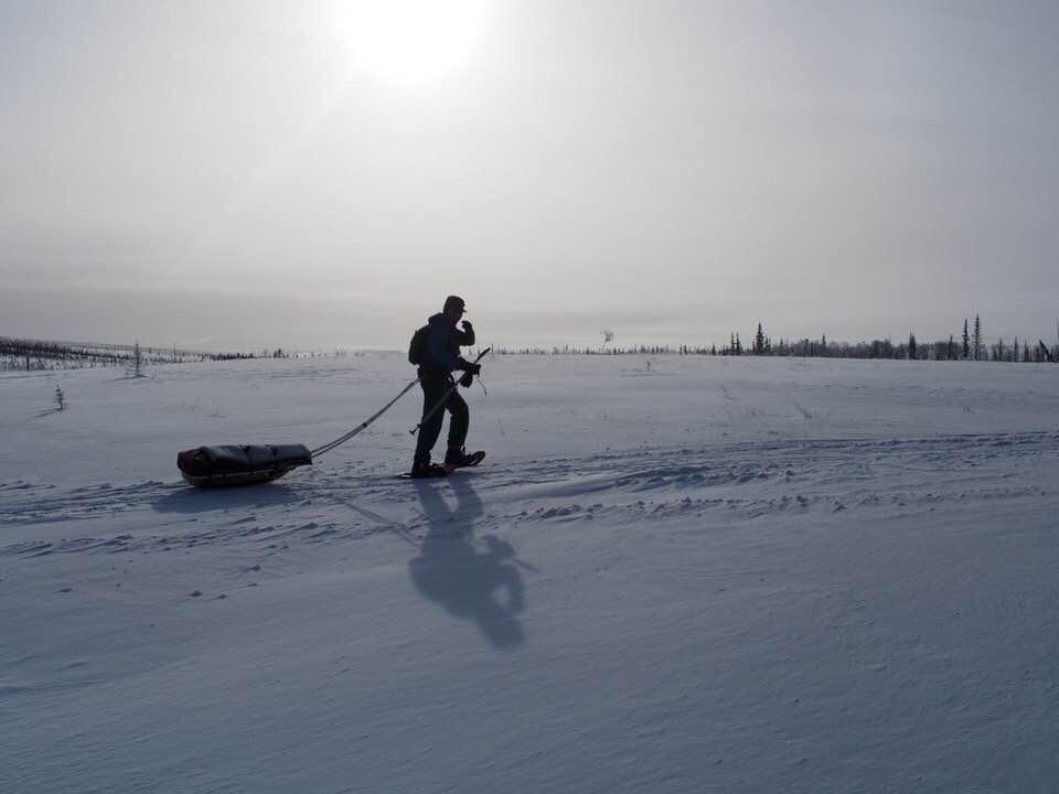 Pete Ripmaster on the Iditarod Race. (Courtesy of Pete Ripmaster)