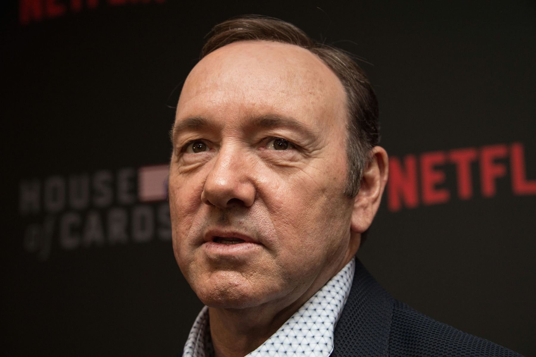 """Actor Kevin Spacey arrives at the season 4 premiere screening of the Netflix show """"House of Cards"""" in Washington, DC, on February 22, 2016. (Photo by Nicholas Kamm / AFP)        (Photo credit should read NICHOLAS KAMM/AFP/Getty Images)"""