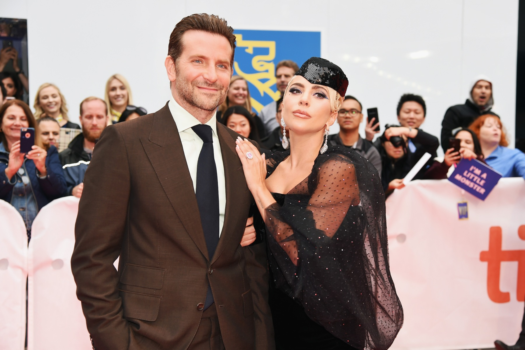 """Bradley Cooper (L) and Lady Gaga attend the """"A Star Is Born"""" premiere during 2018 Toronto International Film Festival at Roy Thomson Hall on September 9, 2018 in Toronto, Canada.  (Photo by Kevin Winter/WireImage)"""