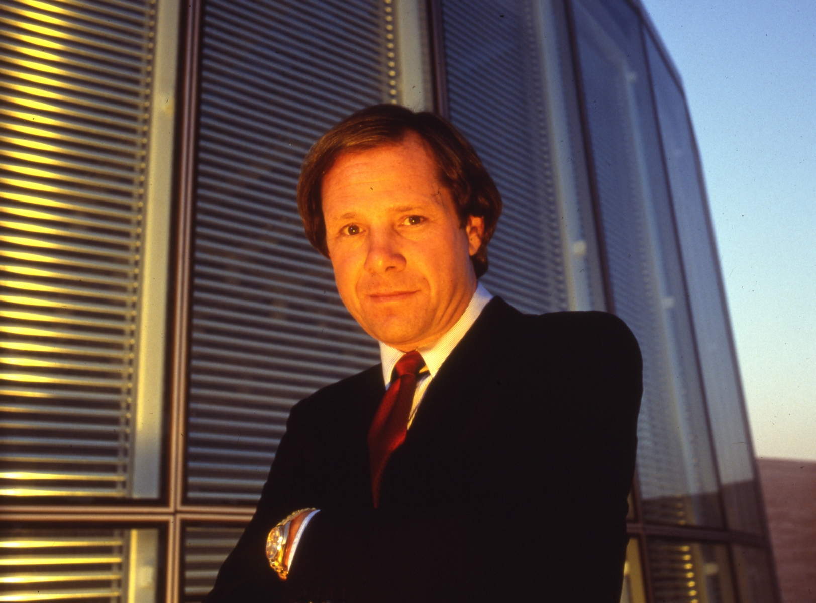 Michael Ovitz, co-founder the Creative Artists Agency, Los Angeles, California, 1987. (Photo by Anthony Barboza/Getty Images)