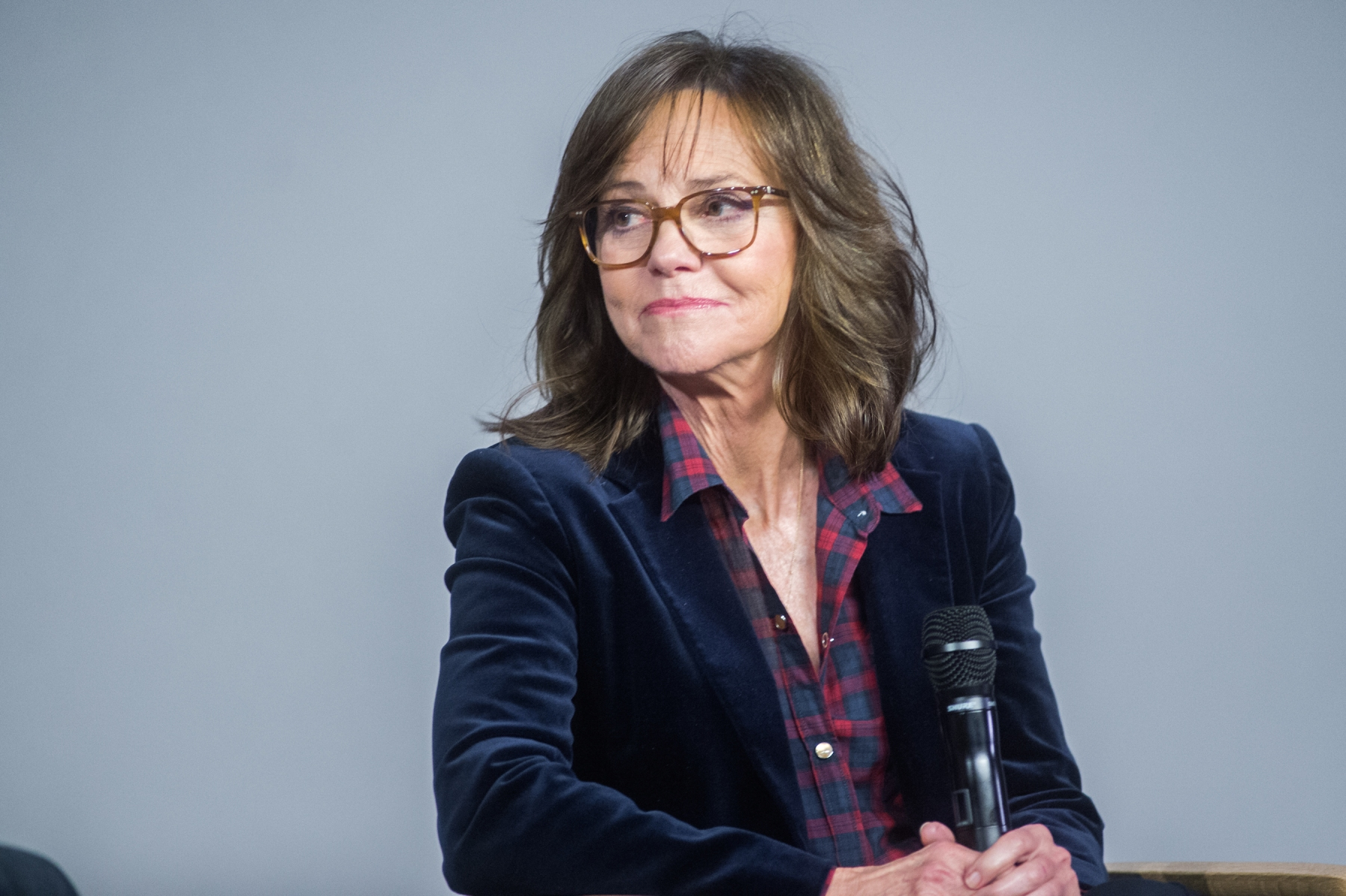 "Actress Sally Field attends the Meet the Filmmaker series to discuss ""Hello My Name Is Doris"" at Apple Store Soho on March 8, 2016 in New York City.  (Photo by Mark Sagliocco/FilmMagic)"