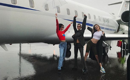 The Hadid Sisters and Kendall Jenner left Milan Fashion Week in style. (Instagram)