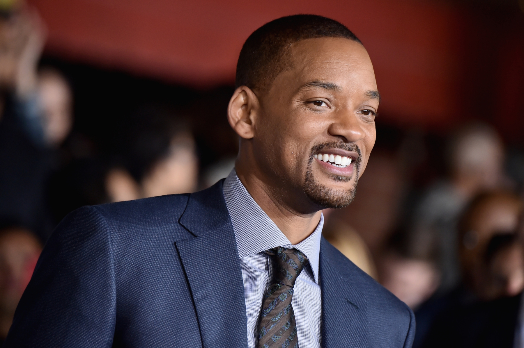 """Will Smith attends the Premiere Of Netflix's """"Bright"""" at Regency Village Theatre on December 13, 2017 in Westwood, California. Smith will star in Disney's live-action """"Aladdin,"""" which recently dropped its first trailer. (Photo by Frazer Harrison/Getty Images)"""