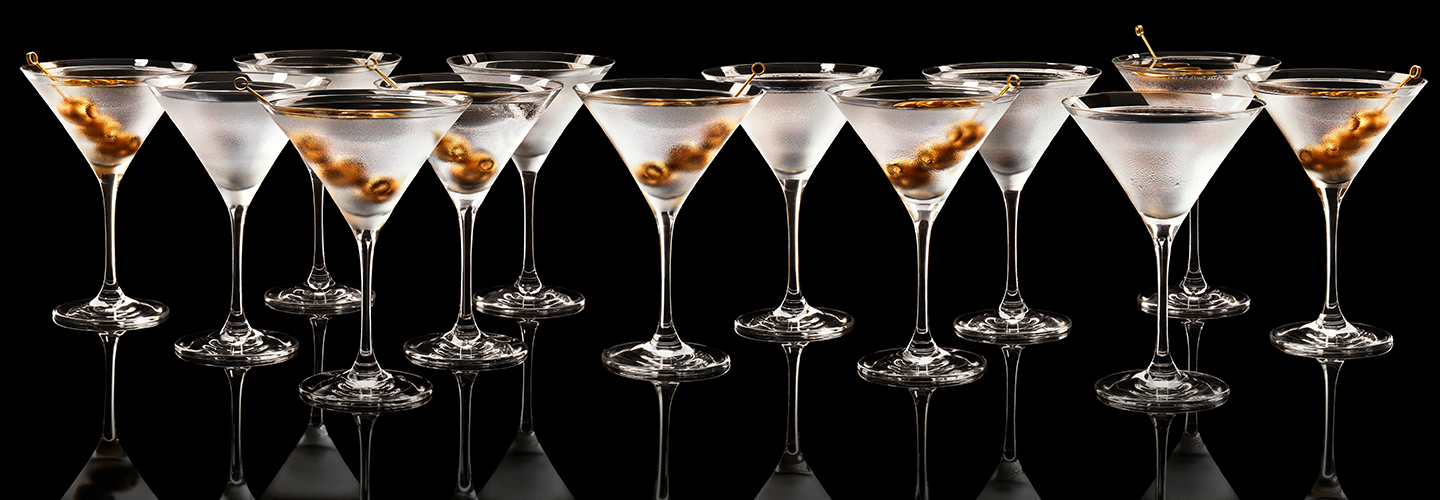 A line of martinis (Getty)