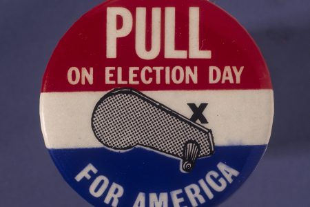 Badge honoring Election Day. (Fotosearch/Getty Images)