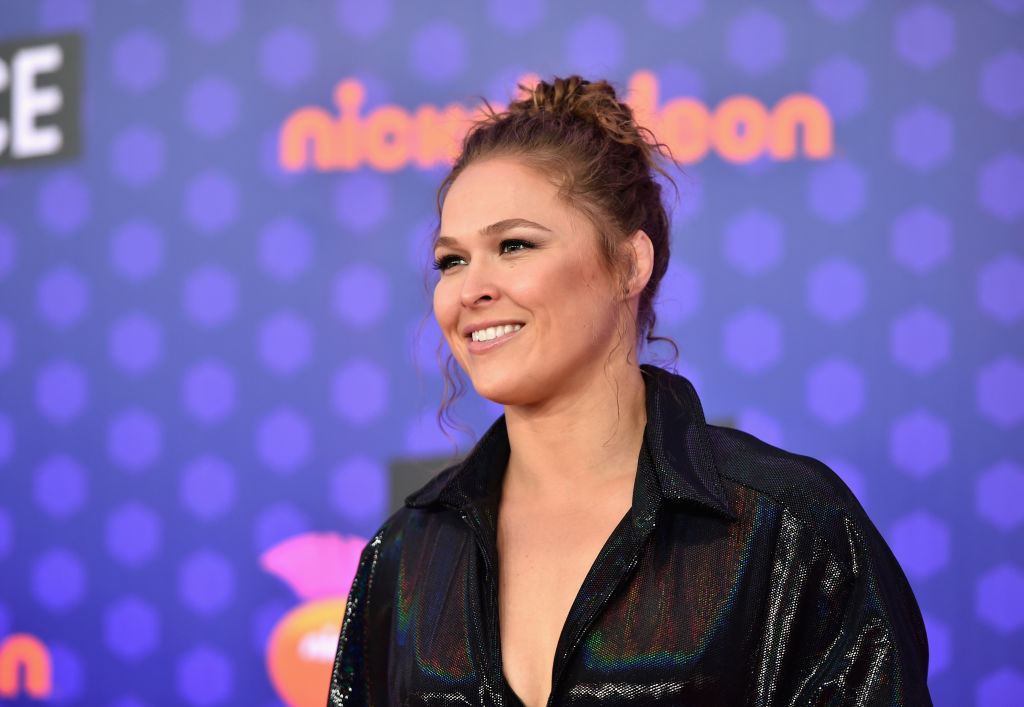 SANTA MONICA, CA - JULY 19:  Wrestler Ronda Rousey attends the Nickelodeon Kids' Choice Sports 2018 at Barker Hangar on July 19, 2018 in Santa Monica, California.  (Photo by Alberto E. Rodriguez/Getty Images For Nickelodeon)