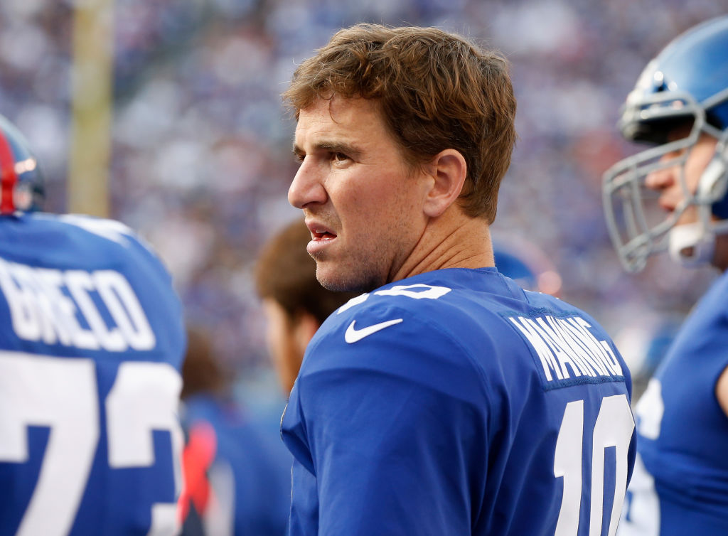 Eli Manning of the New York Giants. (Photo by Jim McIsaac/Getty Images)