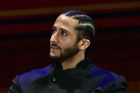 Colin Kaepernick at the W.E.B. Du Bois Medal Award Ceremony in 2018. (Paul Marotta/Getty)