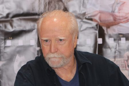 "Scott Wilson (""Dr. Hershel Greene,"" on AMC's The Walking Dead) attends the Motor City Comic Con, at Suburban Collection Showplace on May 15, 2015 in Novi, Michigan.  (Photo by Monica Morgan/WireImage)"