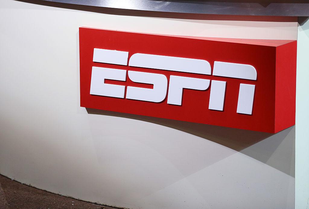 ESPN television logo (Photo by AMA/Corbis via Getty Images)