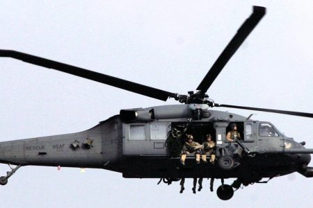 Black Hawk helicopters are among the aircraft in the Air Wing fleet. (AAMIR QURESHI/AFP/Getty Images)