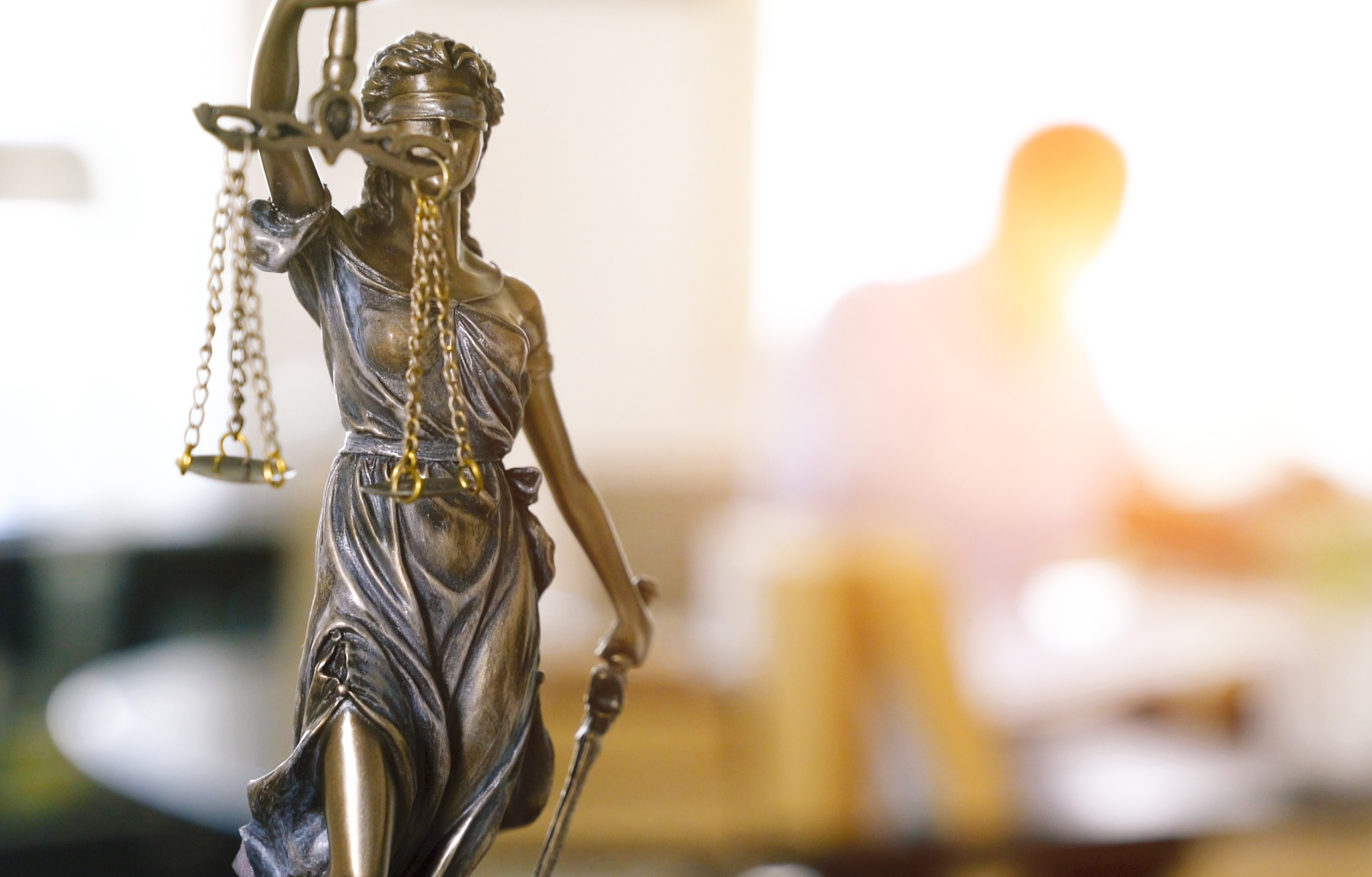 The Statue of Justice - lady justice or Iustitia / Justitia the Roman goddess of Justice in lawyer office. Famous personal injury lawyers Cellino & Barnes are currently experiencing a financial windfall despite ongoing legal hostilities. (Photo by Alexander Kirch/EyeEm/Getty Images)