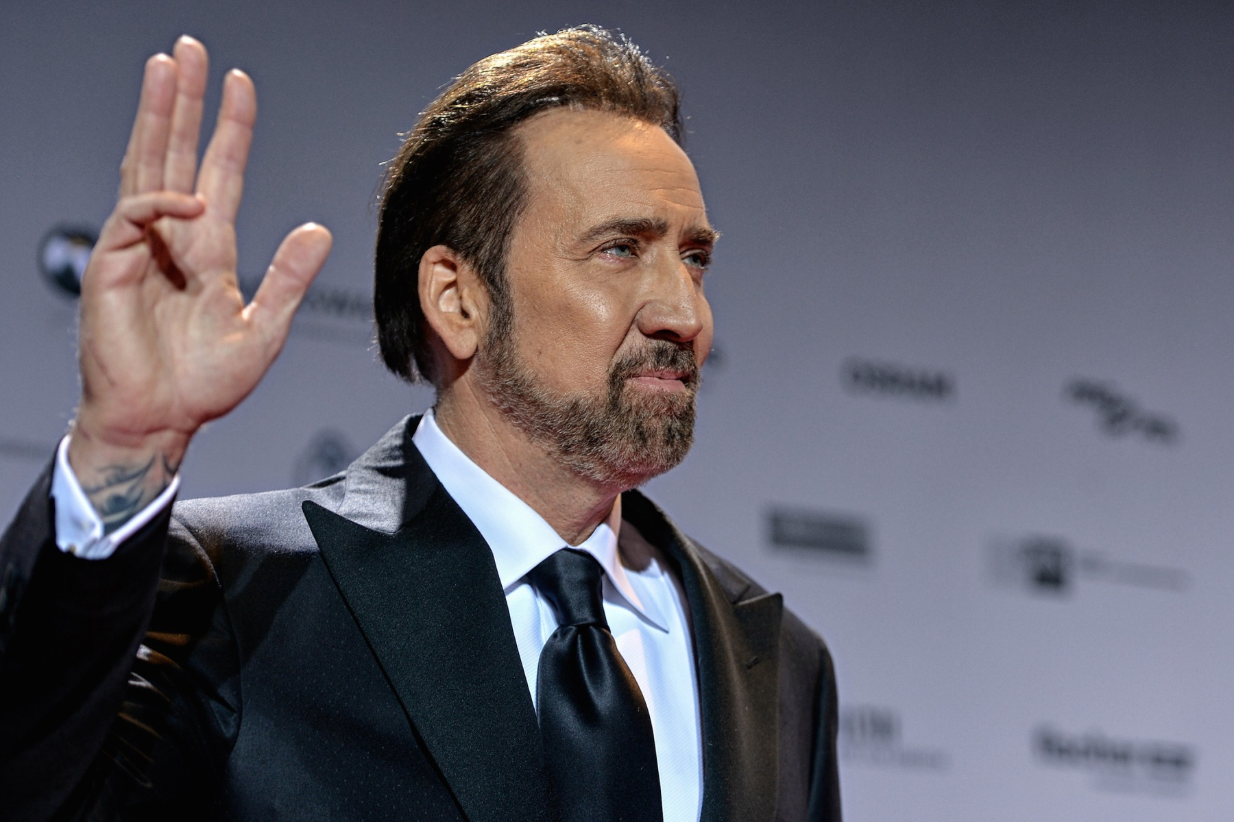 Nicolas Cage attends the German Sustainability Award 2016 (Deutscher Nachhaltigkeitspreis) at Maritim Hotel on November 25, 2016. Cage recently opened up in an interview about his cult internet status. (Photo by Sascha Steinbach/Getty Images)