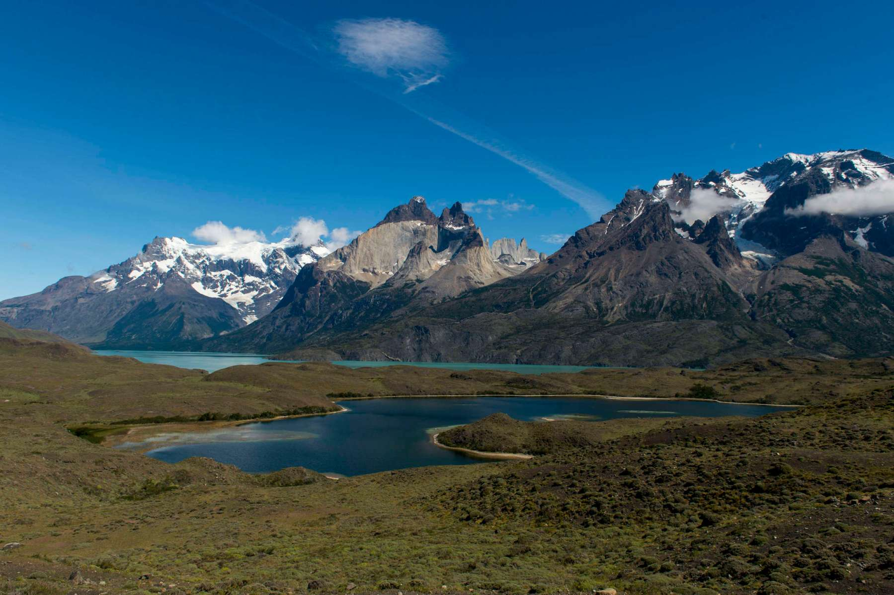 View of the mountains in Torres del Paine National Park in southern Chile. The Chilean government recently announced the creation of the Route of Parks. (Photo by Wolfgang Kaehler/LightRocket via Getty Images)