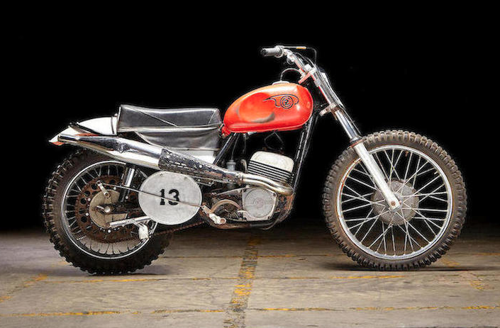 "6f66ac4b5d0 The 1967 CZ 250 ridden by Paul Newman in the film ""Sometimes a Great  Notion."" (Bonhams)"