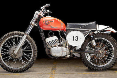 "The 1967 CZ 250 which was ridden by Paul Newman in the film ""Sometimes a Great Notion."" (Bonhams)"