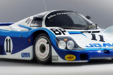 The 1983 Porsche 956 Group C racing car which is being offered at RM Sotheby's Porsche 70th Anniversary Auction in Atlanta on Saturday, October 27, 2018. (Matthew Howell 2018, Courtesy of RM Sotheby's)