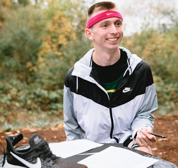 Justin Gallegos became the first athlete with cerebral palsy to sign a contract with Nike. (Justin Gallegos on Instagram)