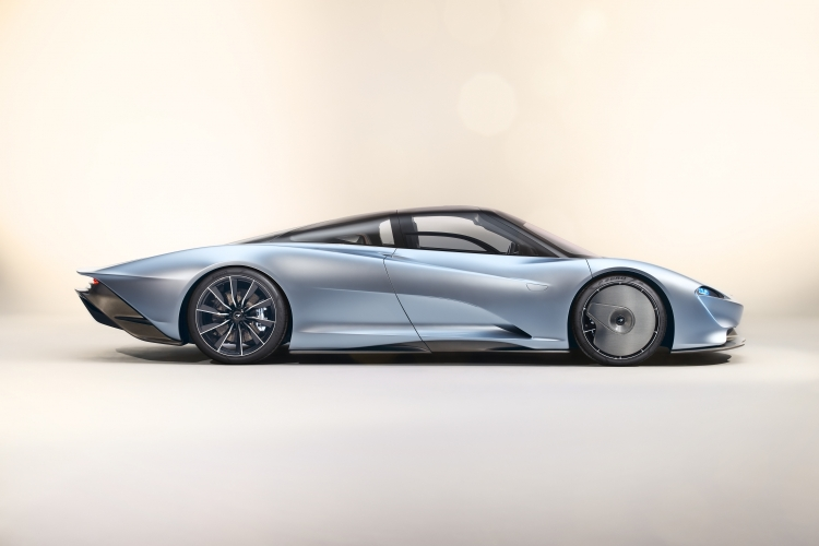 Press images of the McLaren Speedtail released upon its reveal. (McLaren)