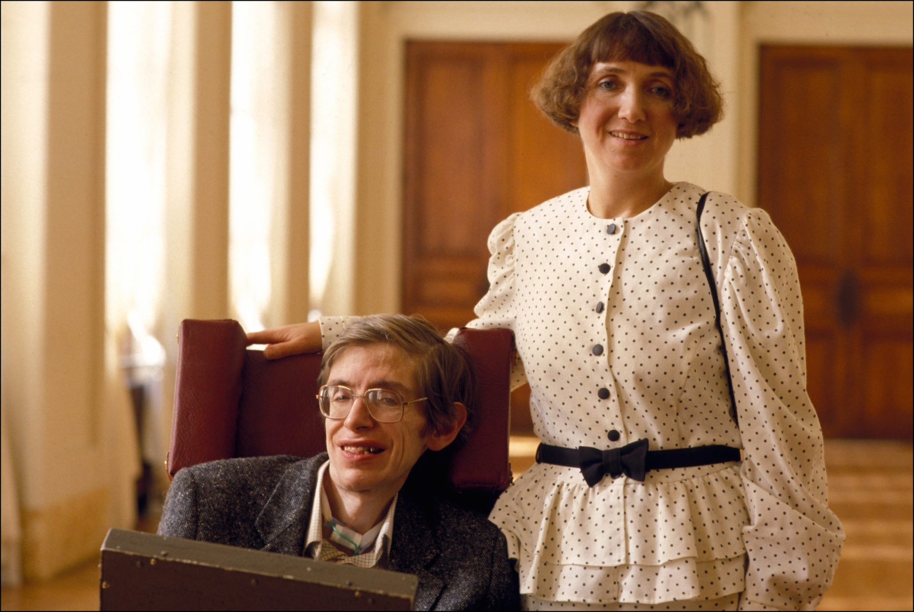 """Stephen Hawking and Jane Hawking In Paris - On March 03th, 1989,In Paris,France. Jane Hawking recently spoke about inaccuracies in the film """"The Theory of Everything."""" (Photo by Gilles BASSIGNAC/Gamma-Rapho via Getty Images)"""