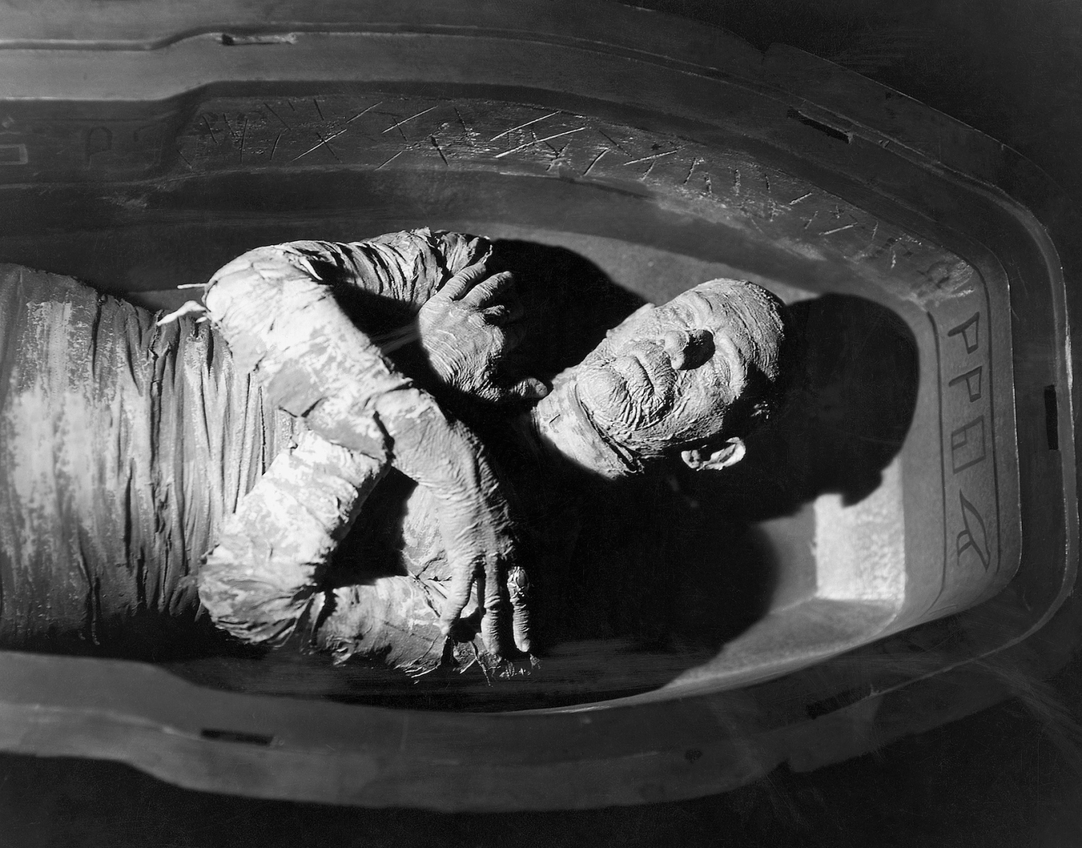 "Boris Karloff in the 1932 motion picture The Mummy. A poster from ""The Mummy"" may fetch more than $1 million at auction this month. Photo by Bettmann / Contributor / Getty Images"